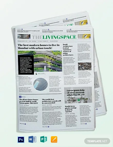 Interior Design Newspaper Template