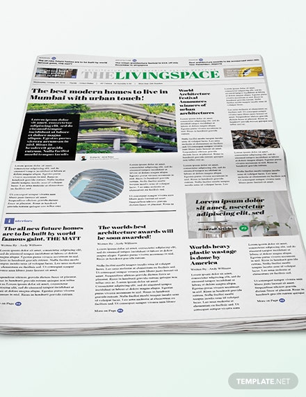 Sample Interior Design Newspaper