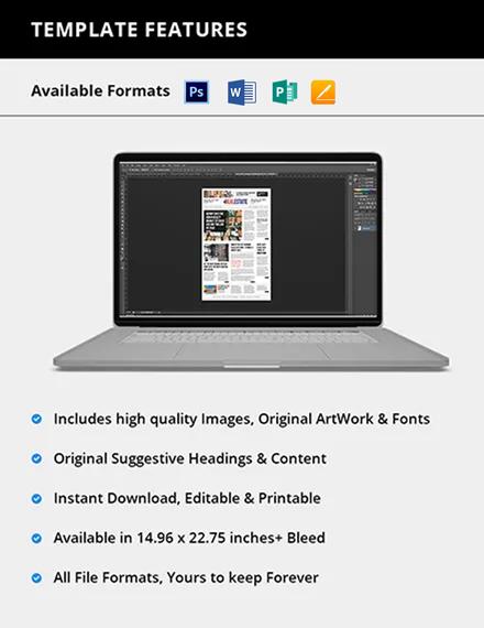 Editable Real Estate Newspaper