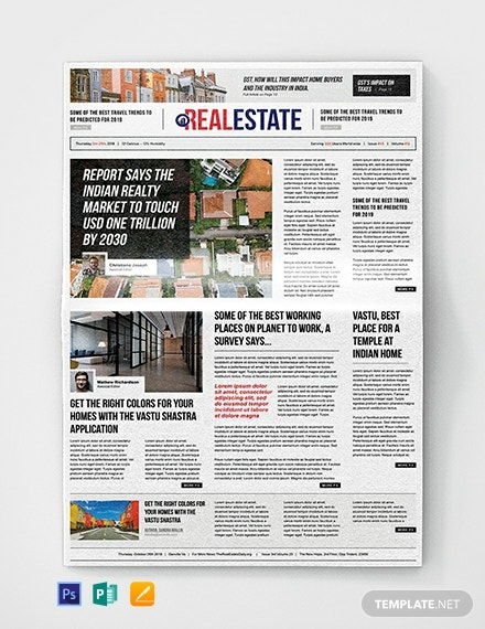 Real Estate Newspaper Template