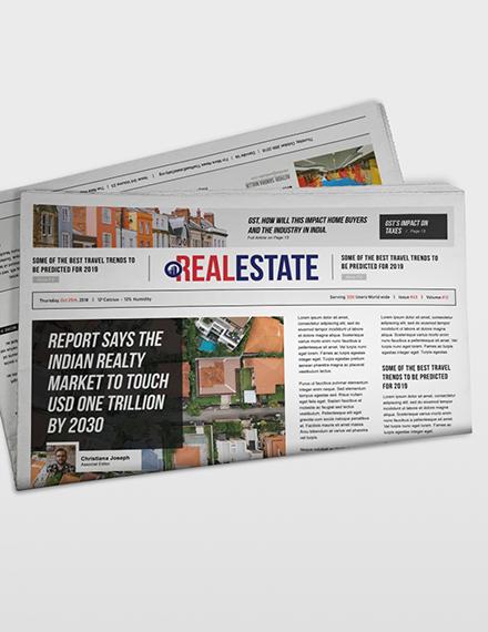 Sample Real Estate Newspaper
