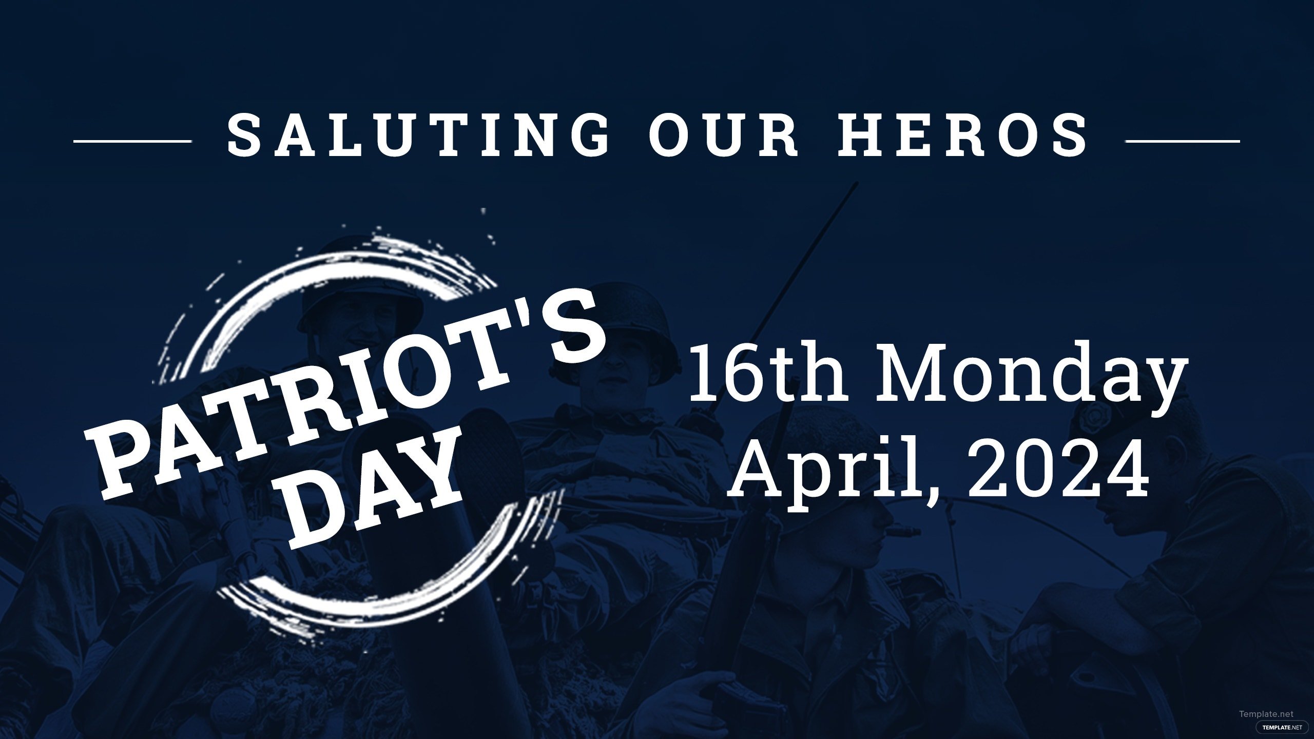 Free Patriot\'s Day YouTube Channel Cover Template in Adobe Photoshop ...