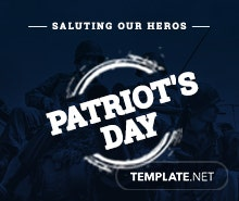 Free Patriot's Day YouTube Profile Photo Template