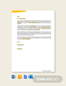Free Job Application Letter For Accountant Assistant