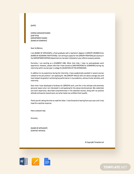 Simple application letter for employment