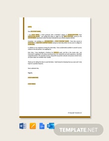 Free Simple Job Application Letter for Employment