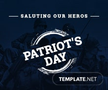 Free Patriot's Day YouTube Video Thumbnail Template