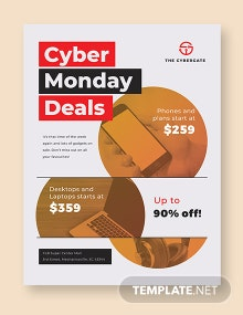 Free Cyber Monday Deal Poster