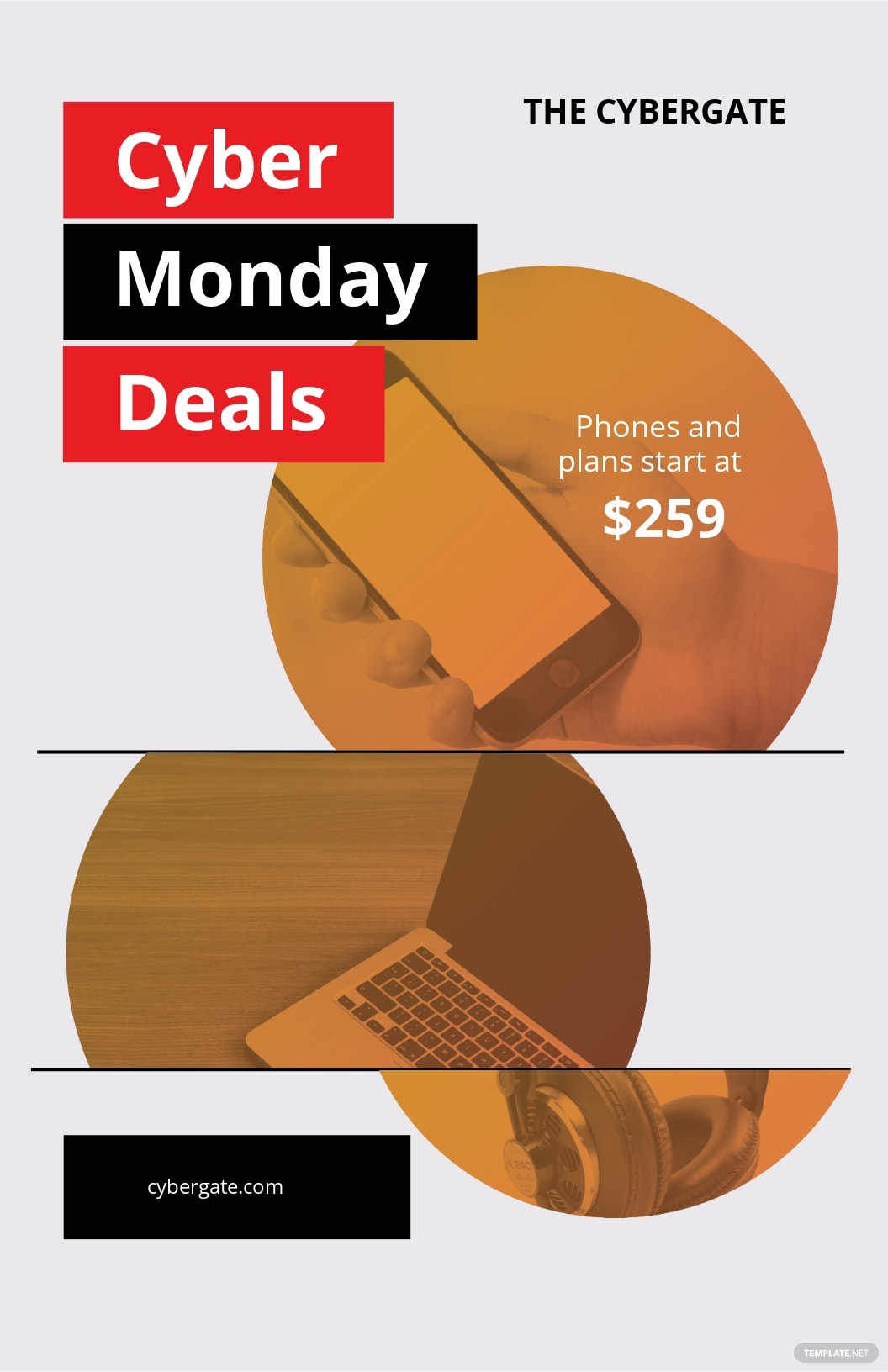 Cyber Monday Deal Poster Template