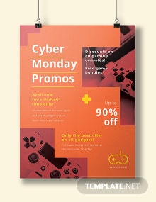 Free Cyber Monday Promotional Poster