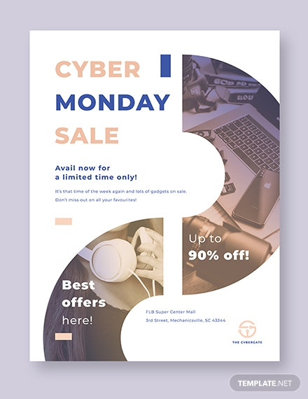 Free Cyber Monday Sales Poster