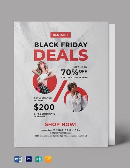 Free Black Friday Deal Flyer