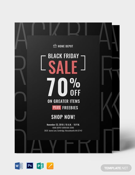 Free Black Friday Promotional Flyer