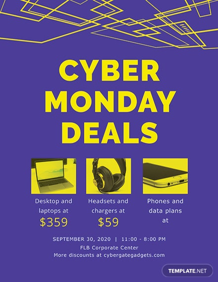 Free Cyber Monday Deal Flyer