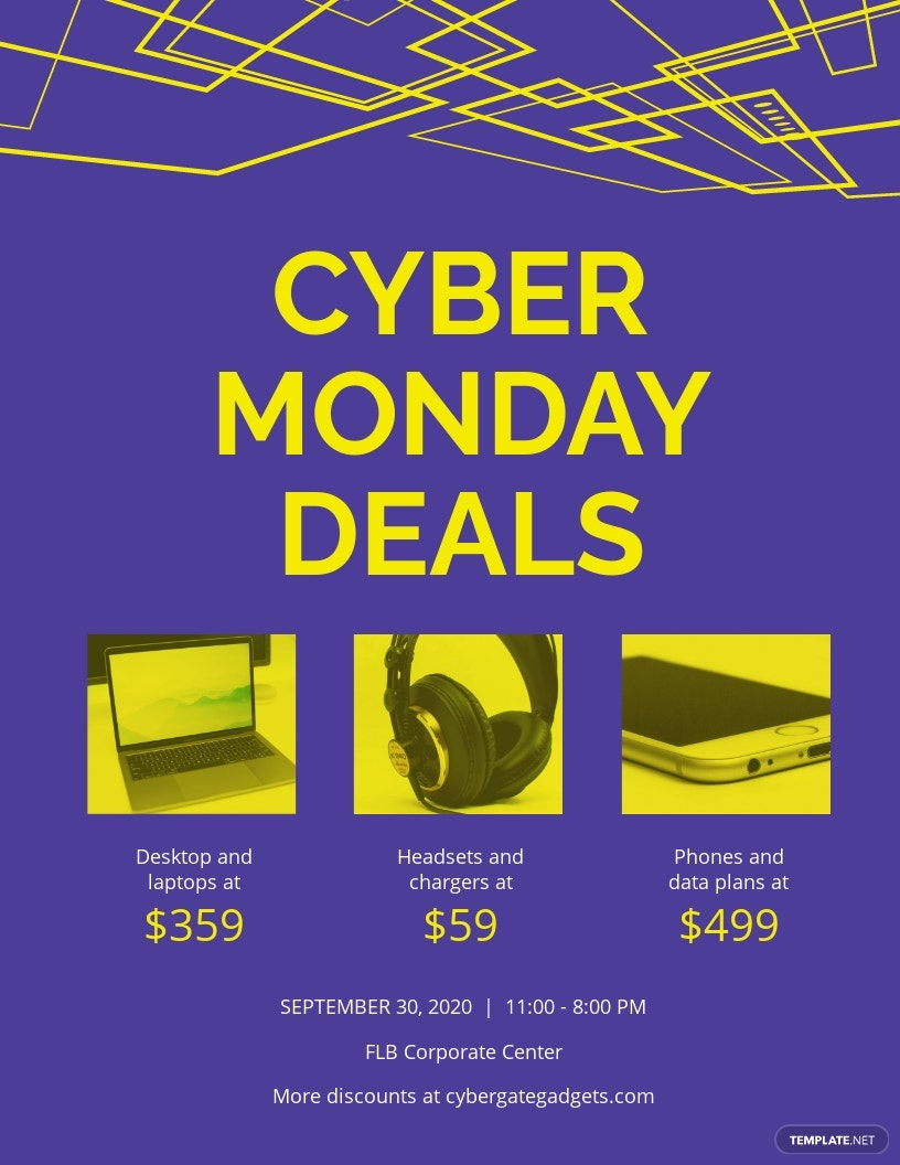 Cyber Monday Deal Flyer Template