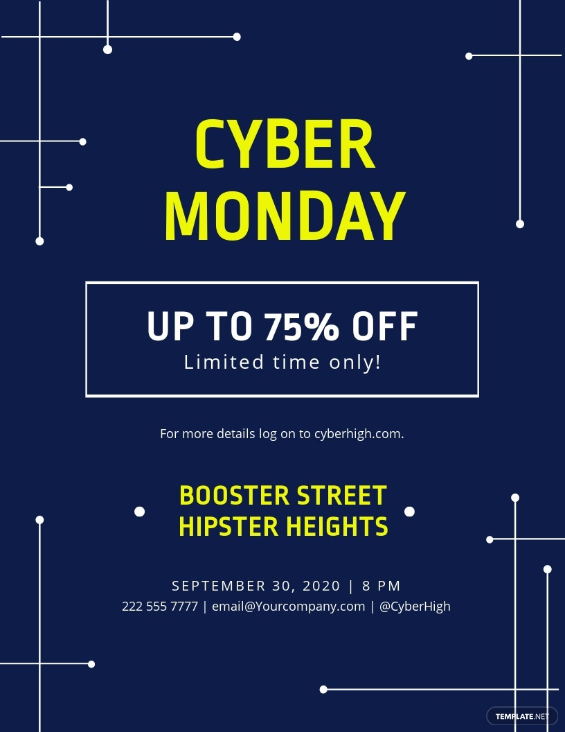 Cyber Monday Discount Flyer Template
