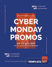 Free Cyber Monday Promotional Flyer