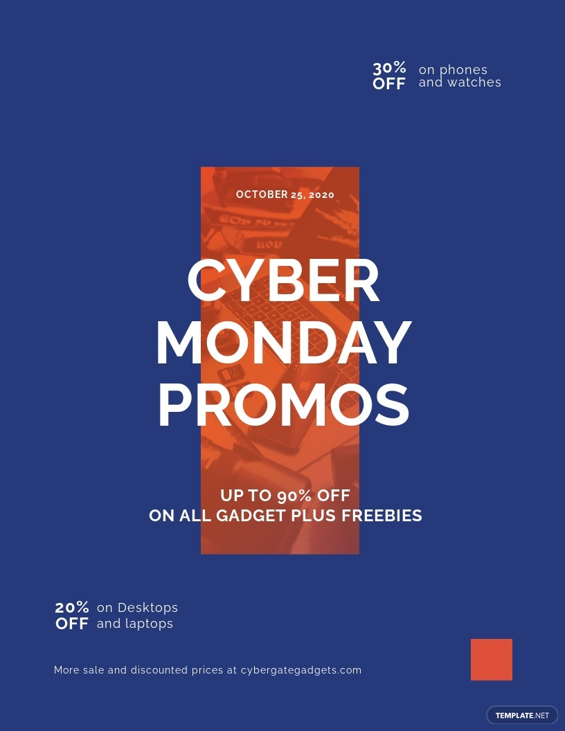 Cyber Monday Promotional Flyer Template