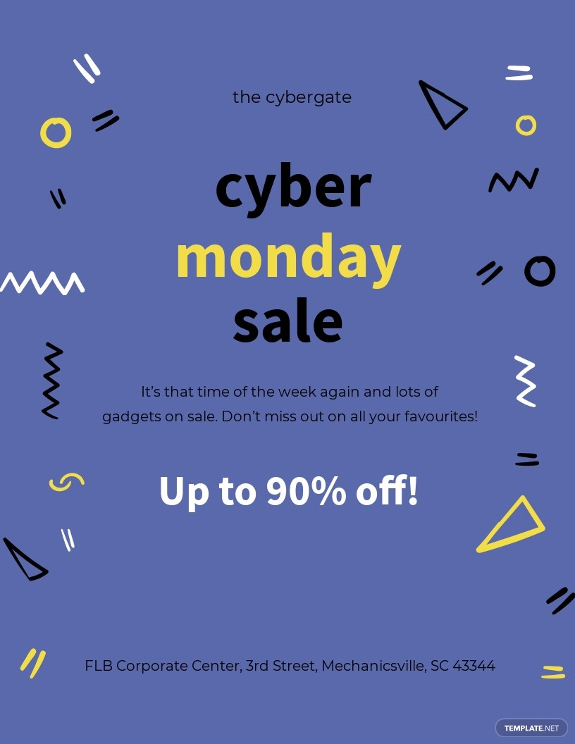 Cyber Monday Sales Flyer Template