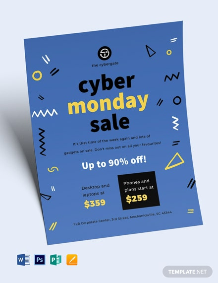 Free Cyber Monday Sales Flyer