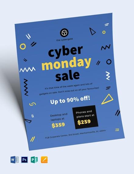 Free Cyber Monday Sales Flyer