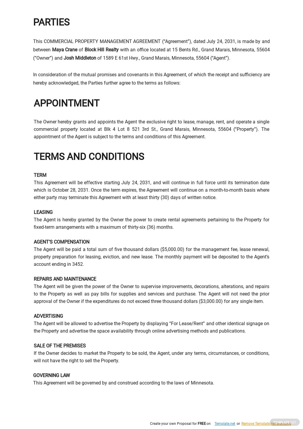 Commercial Property Management Agreement Template 1.jpe