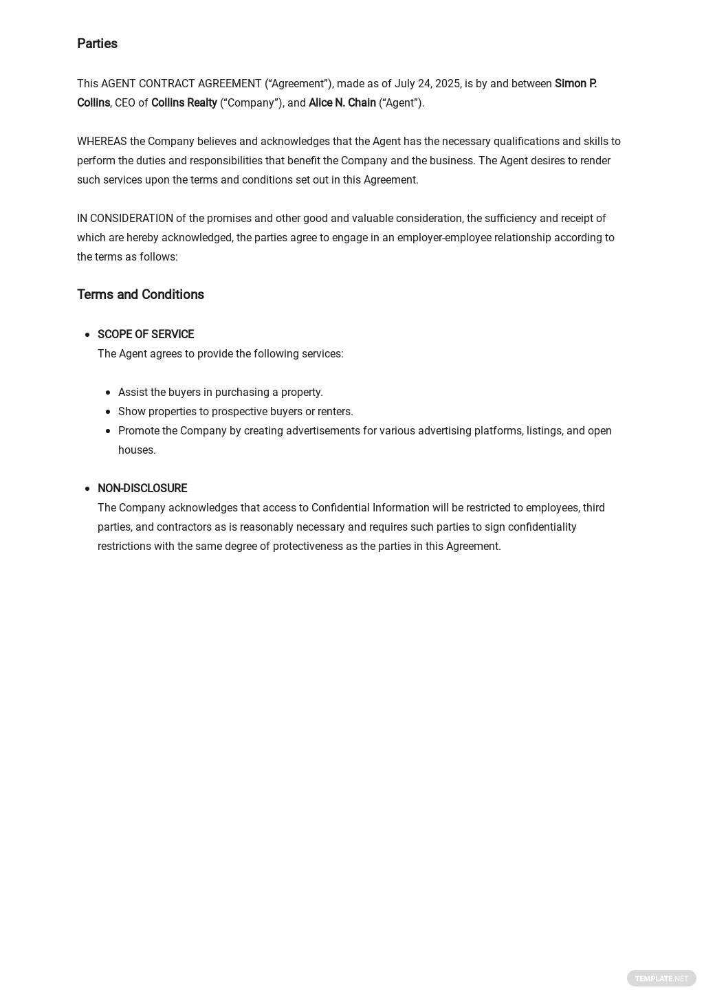 Agent Contract Agreement Template  1.jpe