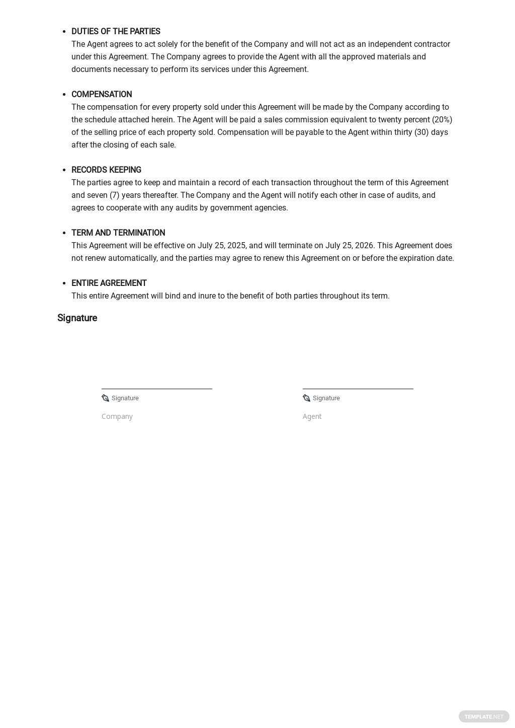 Agent Contract Agreement Template  2.jpe