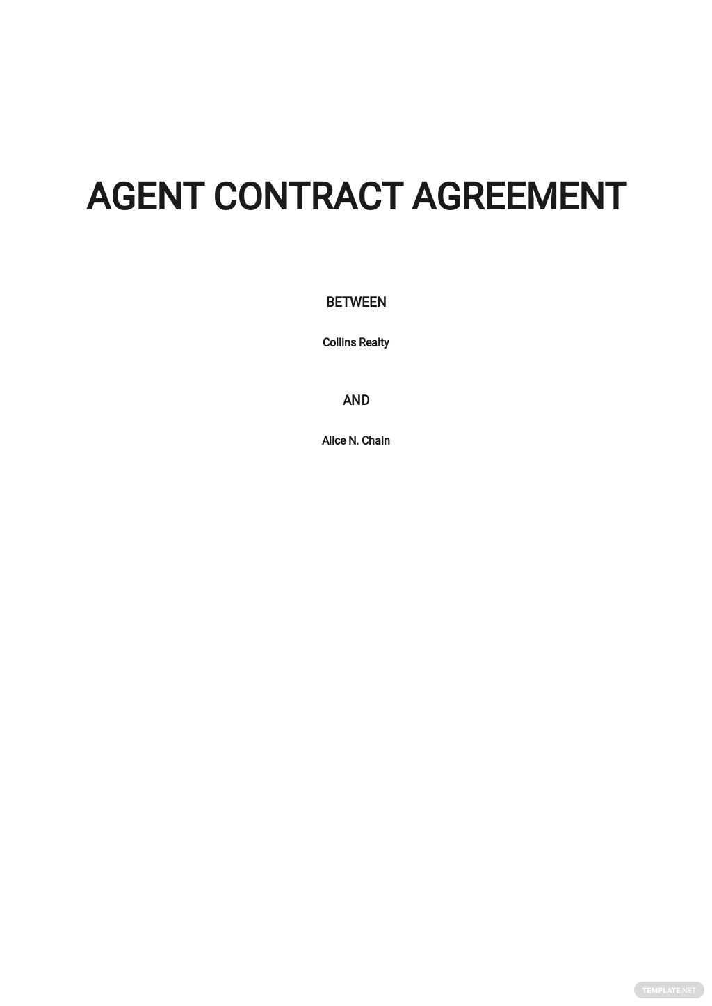 Agent Contract Agreement Template .jpe