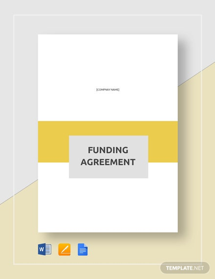 Funding Agreement Template