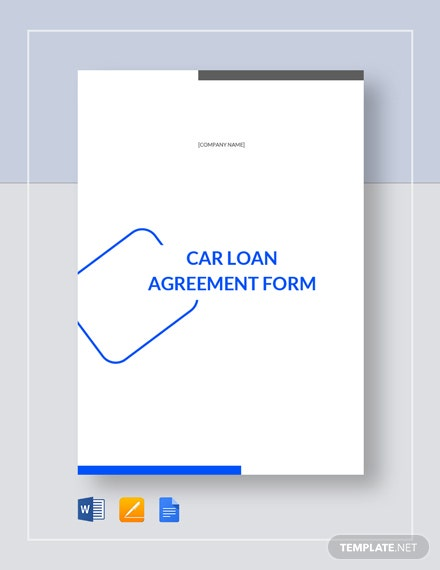 Car Loan Agreement Form Template