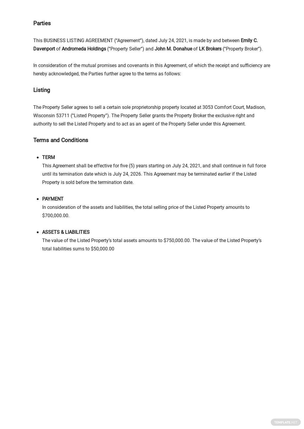 Business Listing Agreement Template  1.jpe