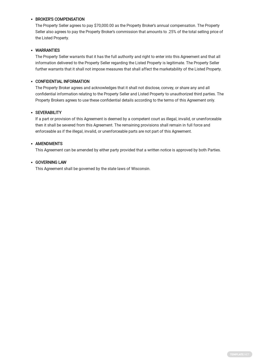 Business Listing Agreement Template  2.jpe