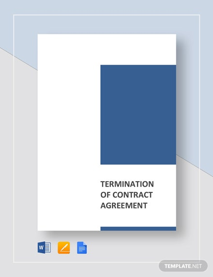 Termination of Contract Agreement Template