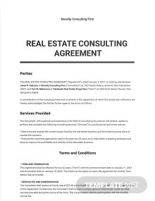 Real Estate Consulting Agreement Template