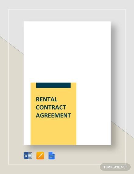 rental contract agreement 5
