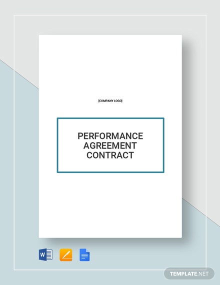 Performance Agreement Contract Template