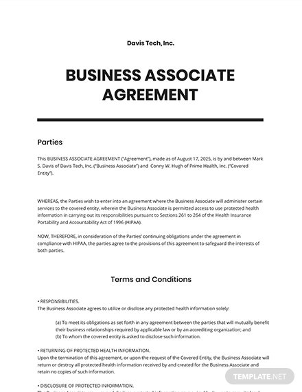 Business Associate Agreement