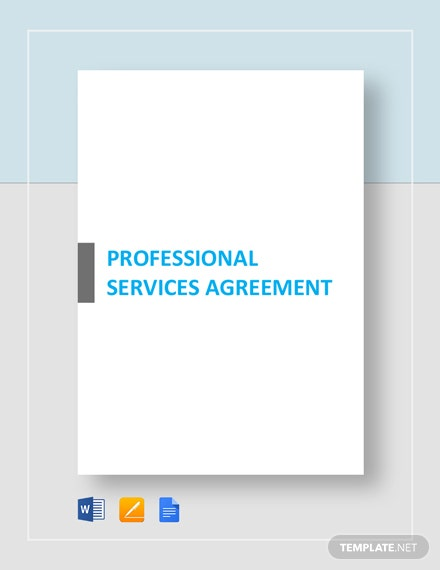 Professional Services Agreement Template Download 153 Agreements