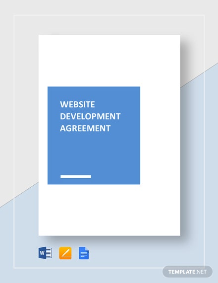 Website Development Agreement Template