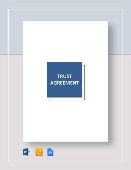 Trust Agreement Template