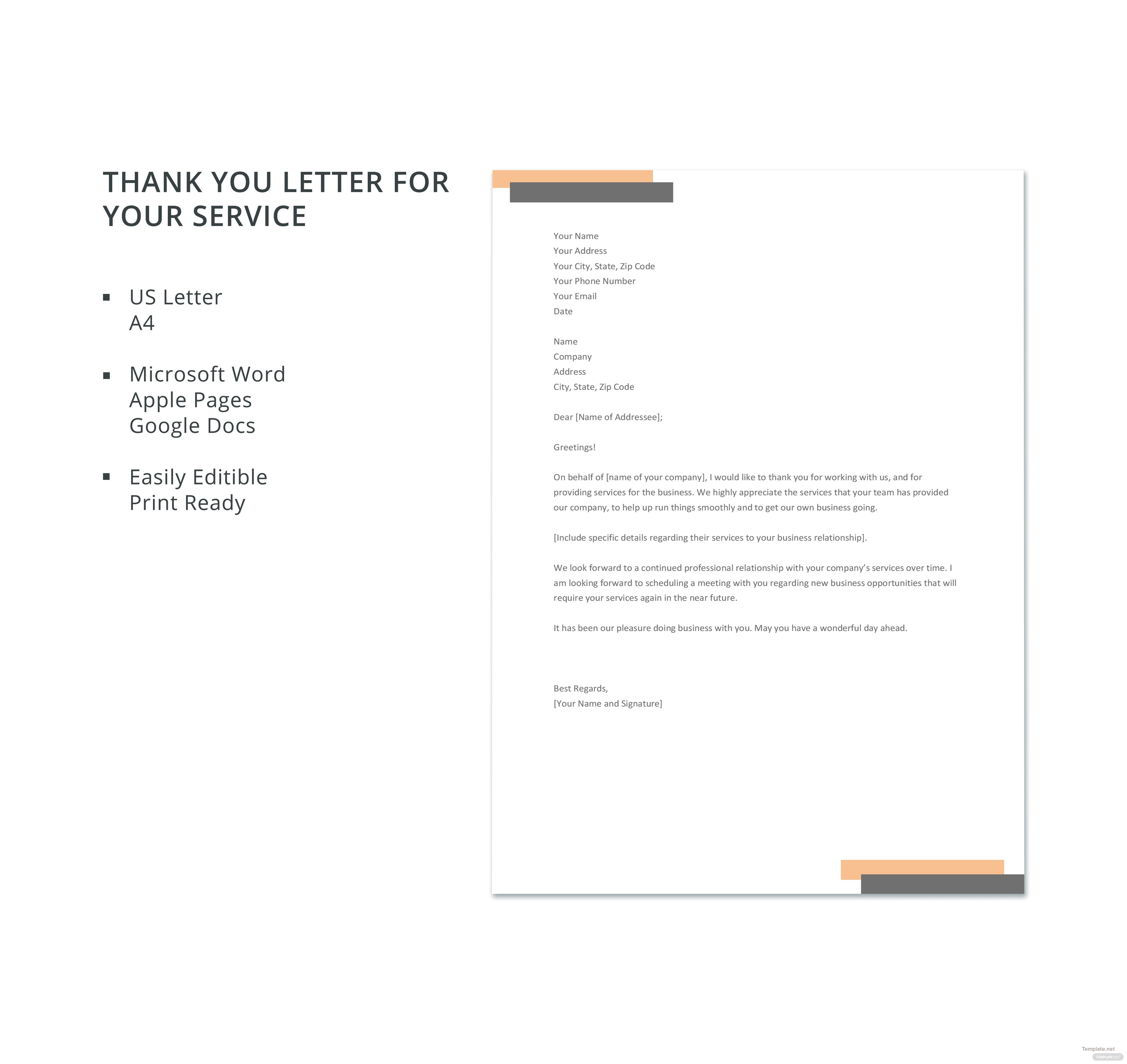 thank you for your service letter thevillas co