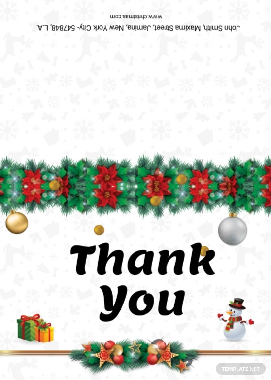 Christmas Cantata Brochure Thank you card Template