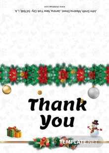 Free Christmas Cantata Brochure Thank you card Template