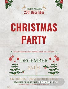 Free Christmas Announcement Poster Template
