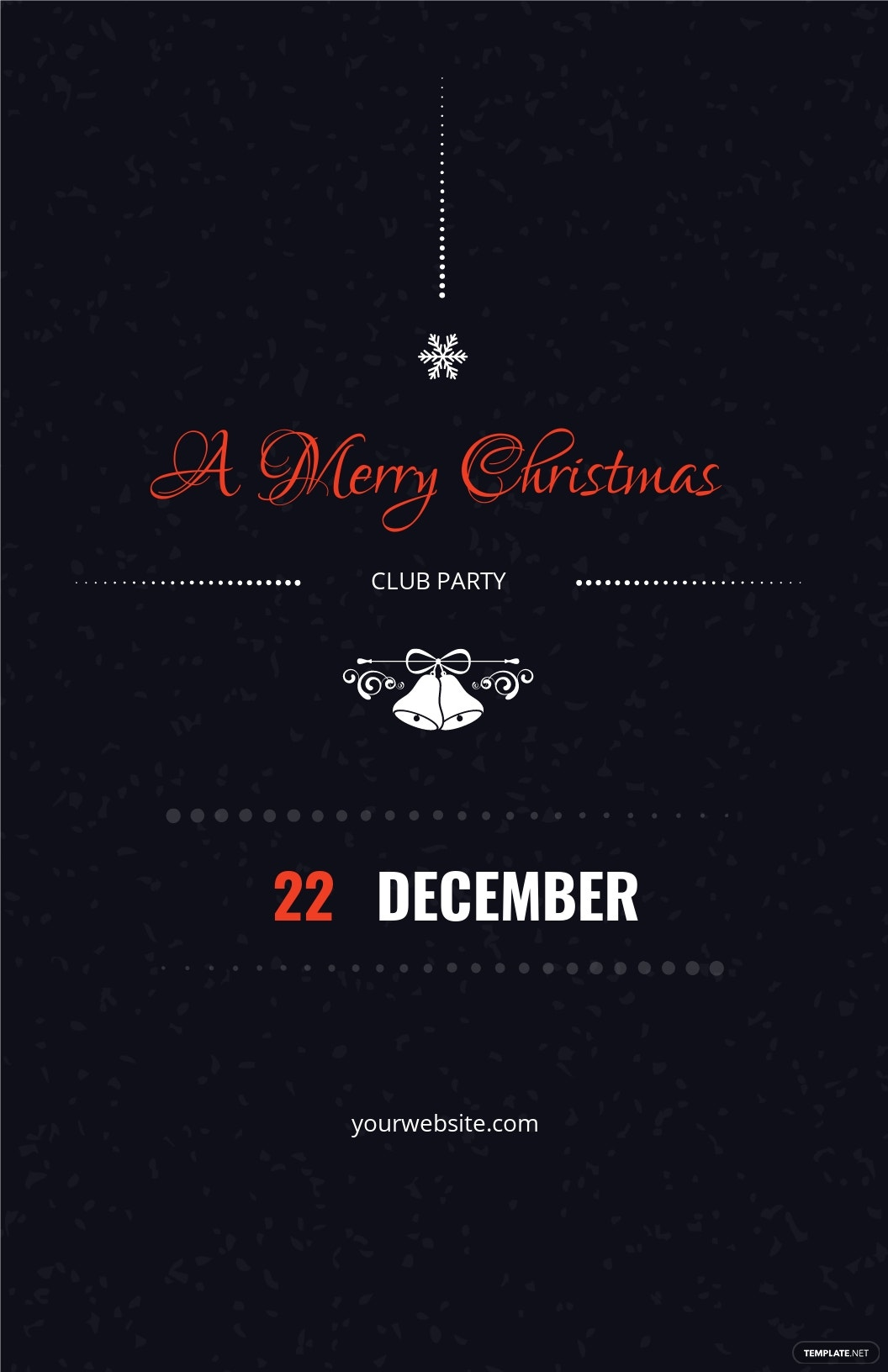 Christmas Club Party Poster Template