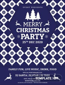 Free Christmas Event Poster Template
