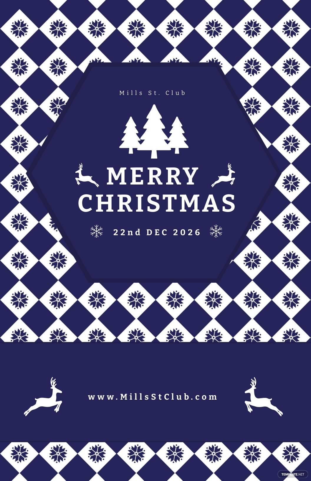Free Christmas Event Poster Template.jpe