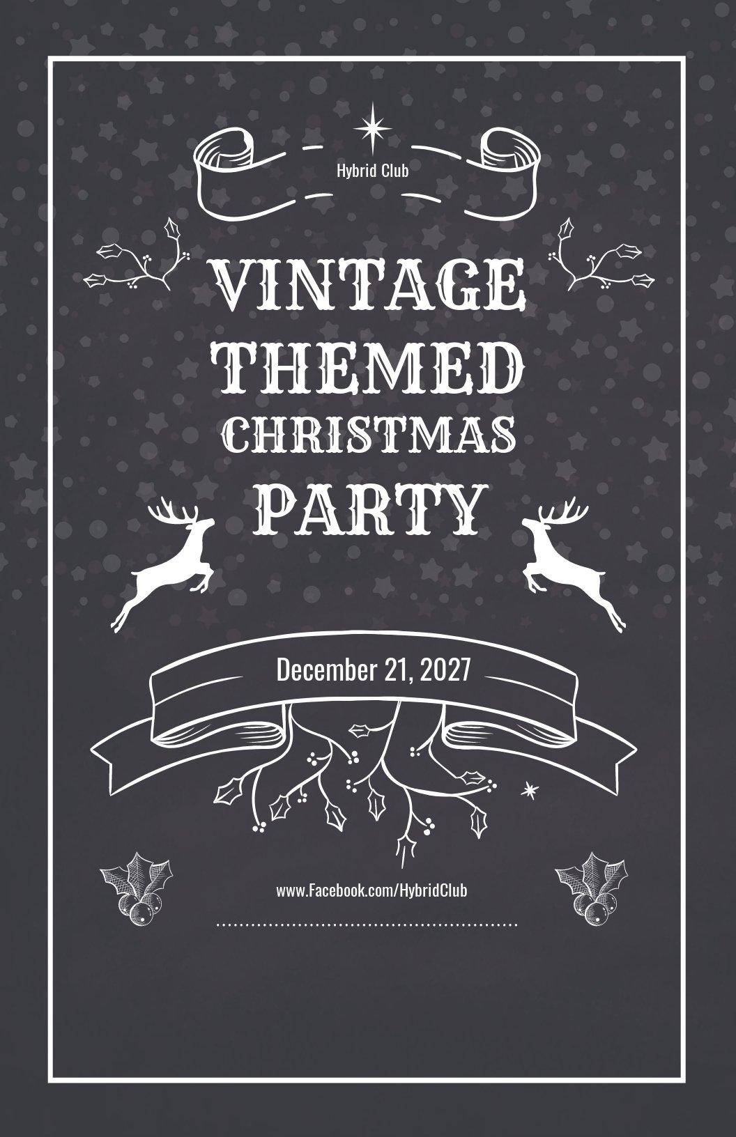 Vintage Christmas Poster Template