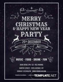 Free Vintage Christmas Poster Template